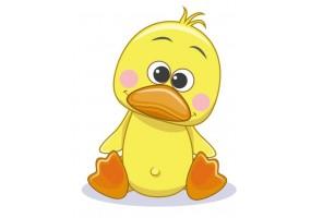 Sticker animaux canard