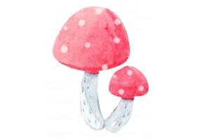 Sticker animaux champignon