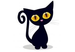 Sticker animaux chat noir