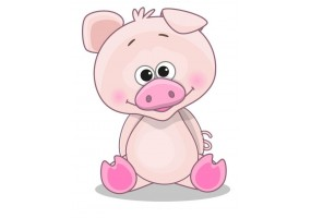Sticker animaux cochon