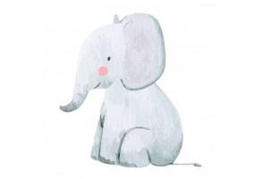 Sticker animaux éléphant