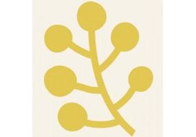Sticker animaux feuille jaune
