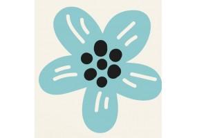 Sticker animaux fleur bleue