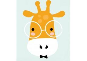 Sticker animaux girafe à lunette