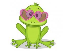 Sticker animaux grenouille