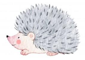Sticker animaux hérisson gris