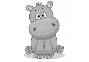 Sticker animaux hippopotame