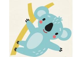 Sticker animaux koala bleu