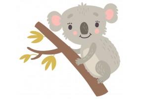 Sticker animaux koala branche