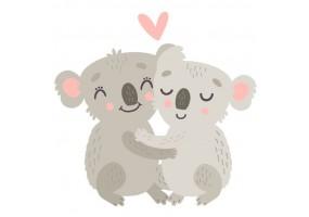 Sticker animaux koala cœur
