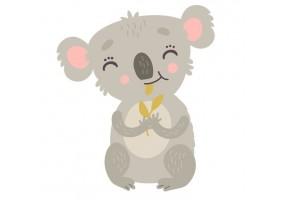 Sticker animaux koala gris
