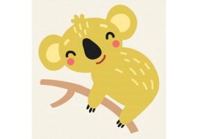 Sticker animaux koala jaune