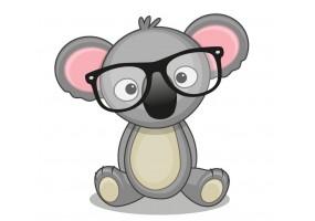 Sticker animaux koala lunette