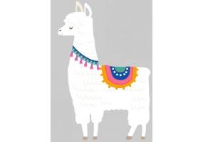 Sticker animaux lama