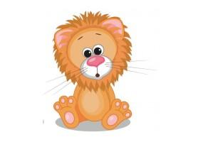 Sticker animaux lion