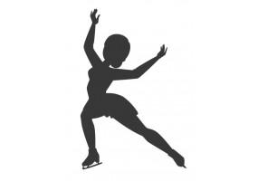 Sticker patinage artistique danseuse