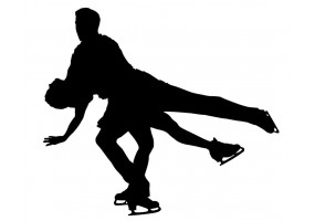 Sticker patinage artistique duo