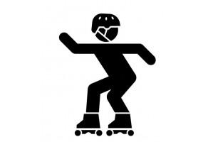 Sticker roller noir
