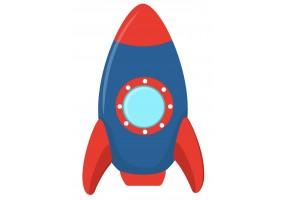 Sticker trottinette fusée