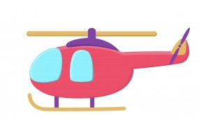Sticker hélicoptère rose