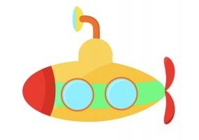 Sticker sous-marin
