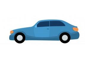 Sticker voiture bleue