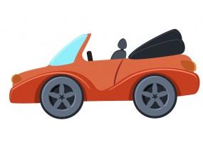 Sticker voiture rouge