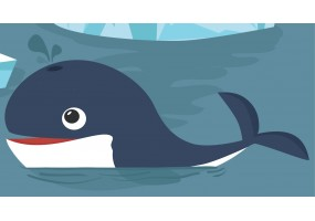 Sticker baleine