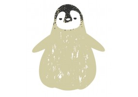 Sticker bébé déguisement pingouin