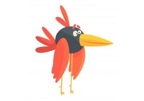 Sticker oiseau bec