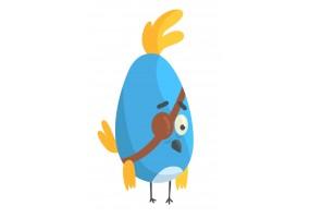 Sticker oiseau bleu pirate