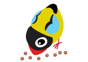 Sticker oiseau graine