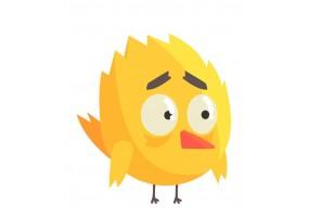 Sticker oiseau jaune