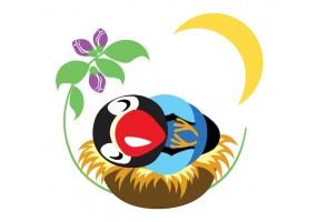 Sticker oiseau nid