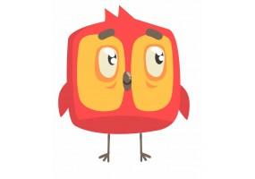 Sticker oiseau rouge