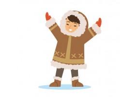 Sticker inuit bébé