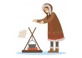 Sticker inuit feu