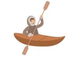 Sticker inuit kayak