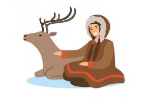 Sticker inuit renne