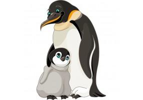 Sticker manchot bébé pingouin