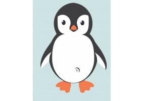 Sticker mural pingouin