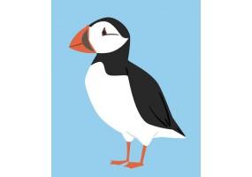 Sticker oiseau polaire