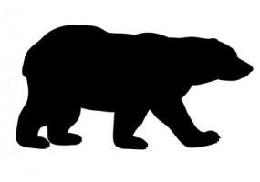 Sticker ours noir silhouette