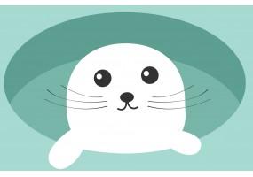 Sticker phoque blanc