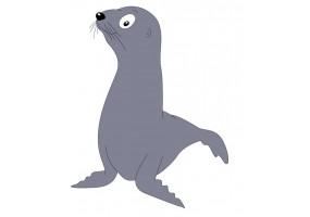 Sticker phoque gris