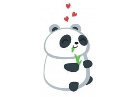 Sticker panda cœur