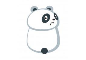 Sticker panda effrayé