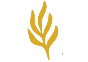 Sticker feuille dorée