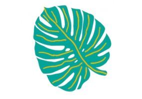 Sticker feuille palmier verte