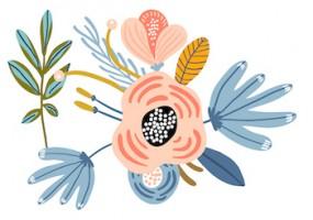 Sticker fleur bouquet